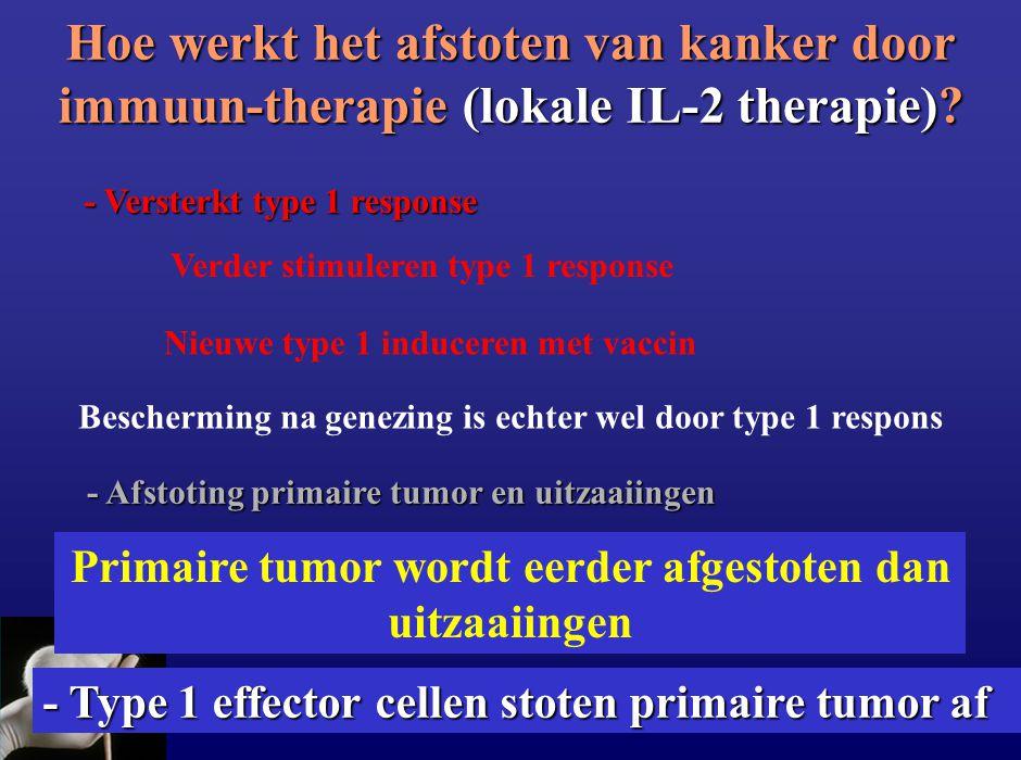 Hoe werkt het afstoten van kanker door immuun-therapie (lokale IL-2 therapie)