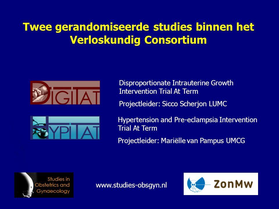 Twee gerandomiseerde studies binnen het Verloskundig Consortium