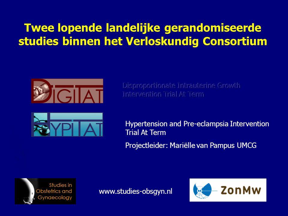 Twee lopende landelijke gerandomiseerde studies binnen het Verloskundig Consortium