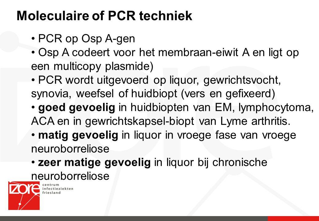 Moleculaire of PCR techniek