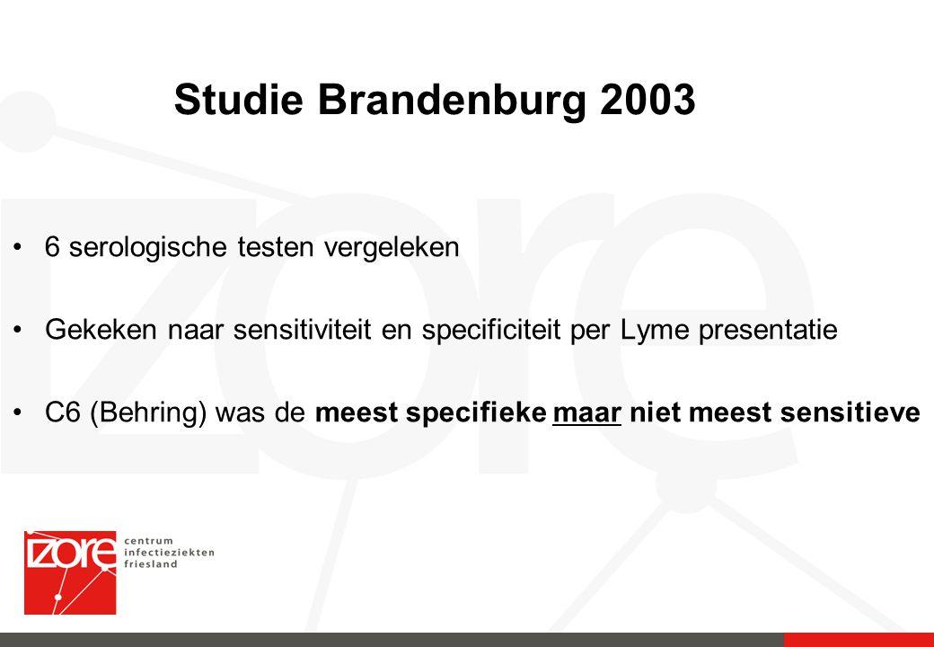 Studie Brandenburg 2003 6 serologische testen vergeleken