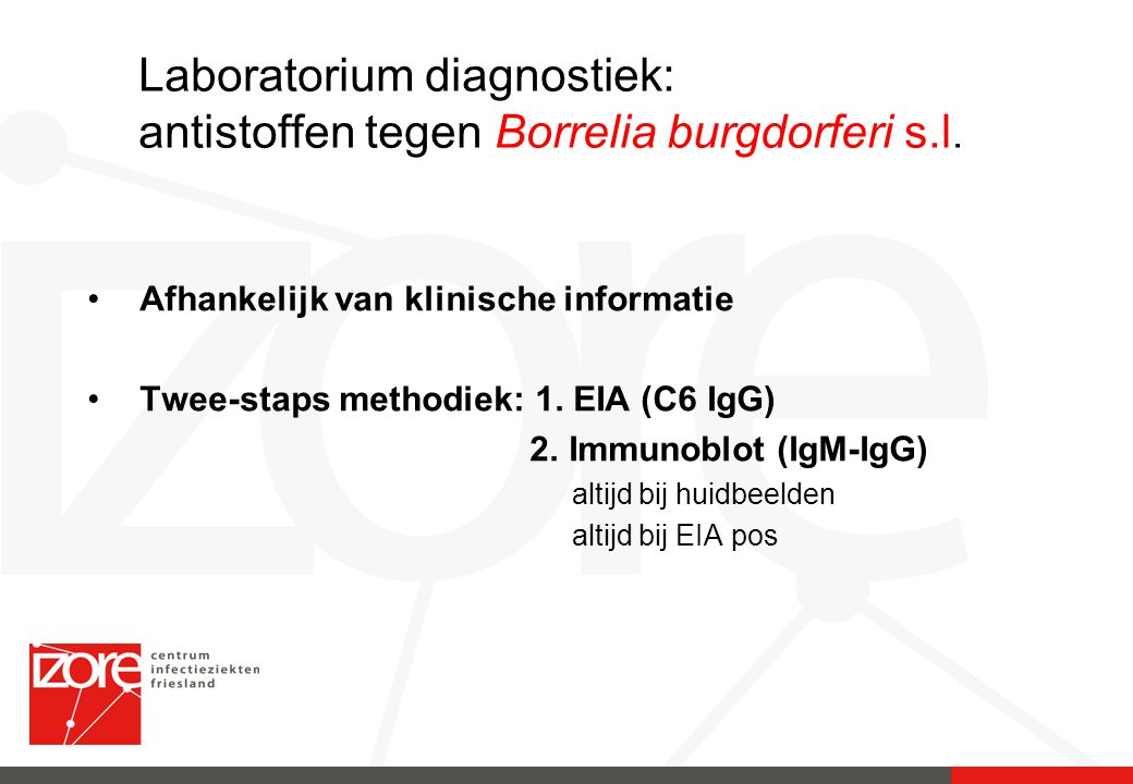 Laboratorium diagnostiek: antistoffen tegen Borrelia burgdorferi s.l.