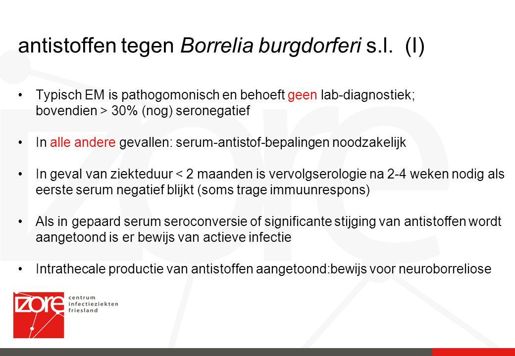 antistoffen tegen Borrelia burgdorferi s.l. (I)