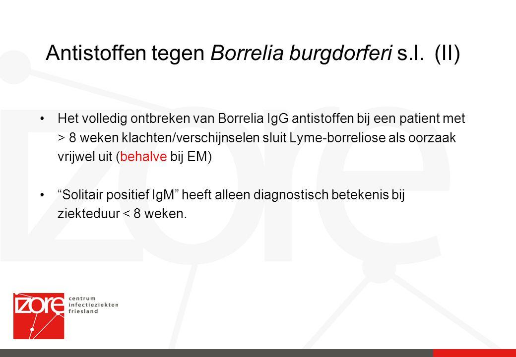 Antistoffen tegen Borrelia burgdorferi s.l. (II)