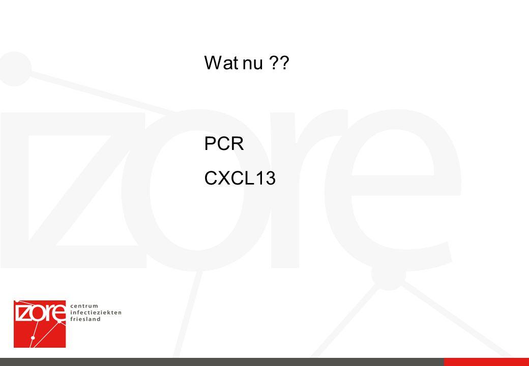Wat nu PCR CXCL13