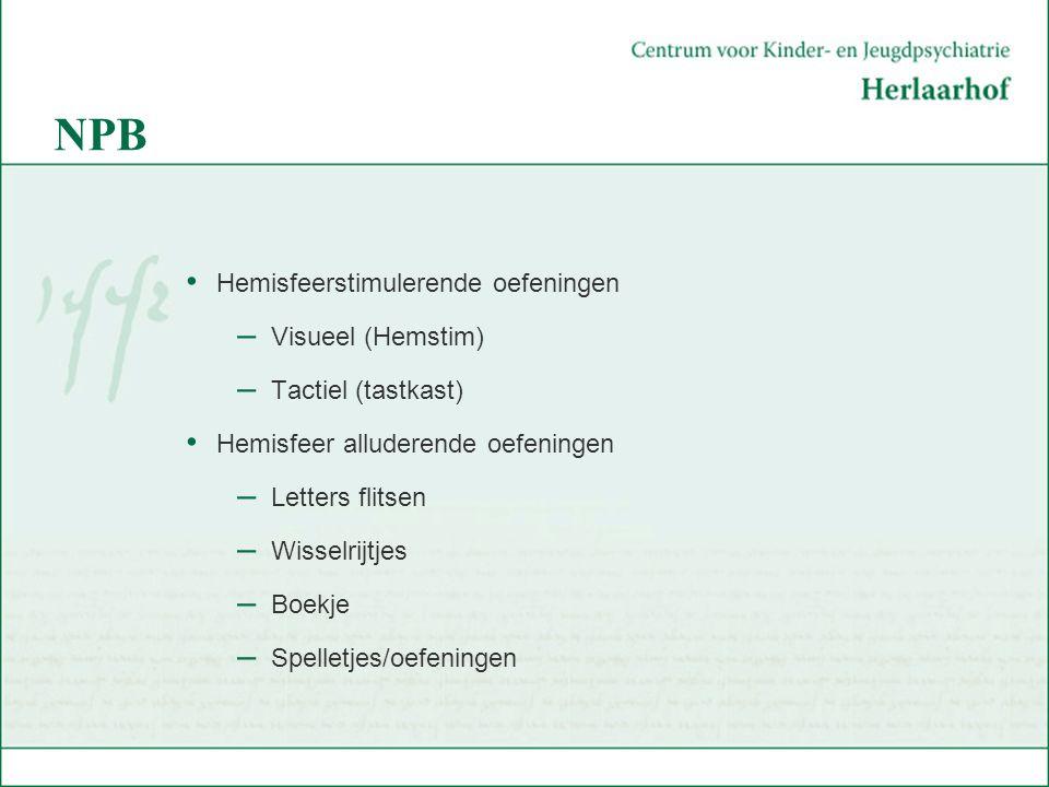 NPB Hemisfeerstimulerende oefeningen Visueel (Hemstim)