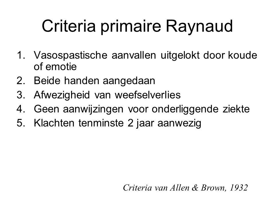 Criteria primaire Raynaud