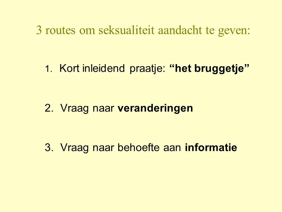 3 routes om seksualiteit aandacht te geven: