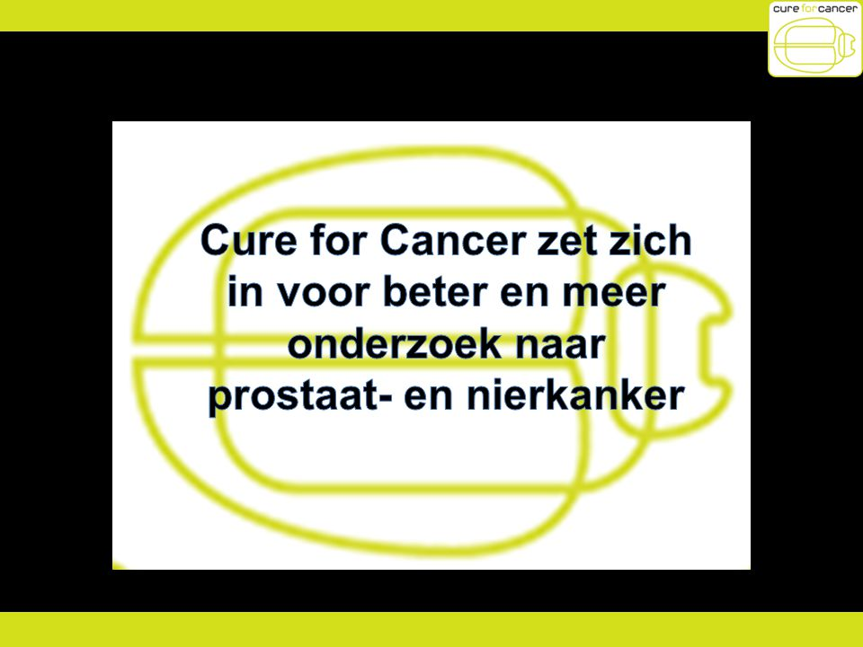 Cure for Cancer zet zich prostaat- en nierkanker