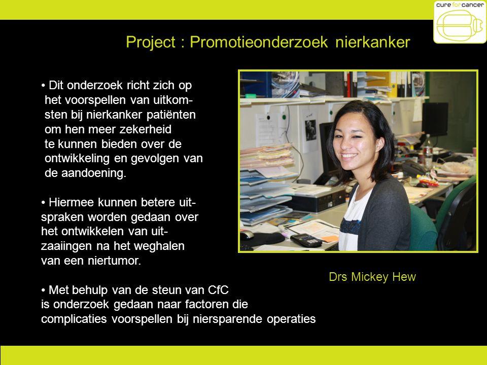 Project : Promotieonderzoek nierkanker
