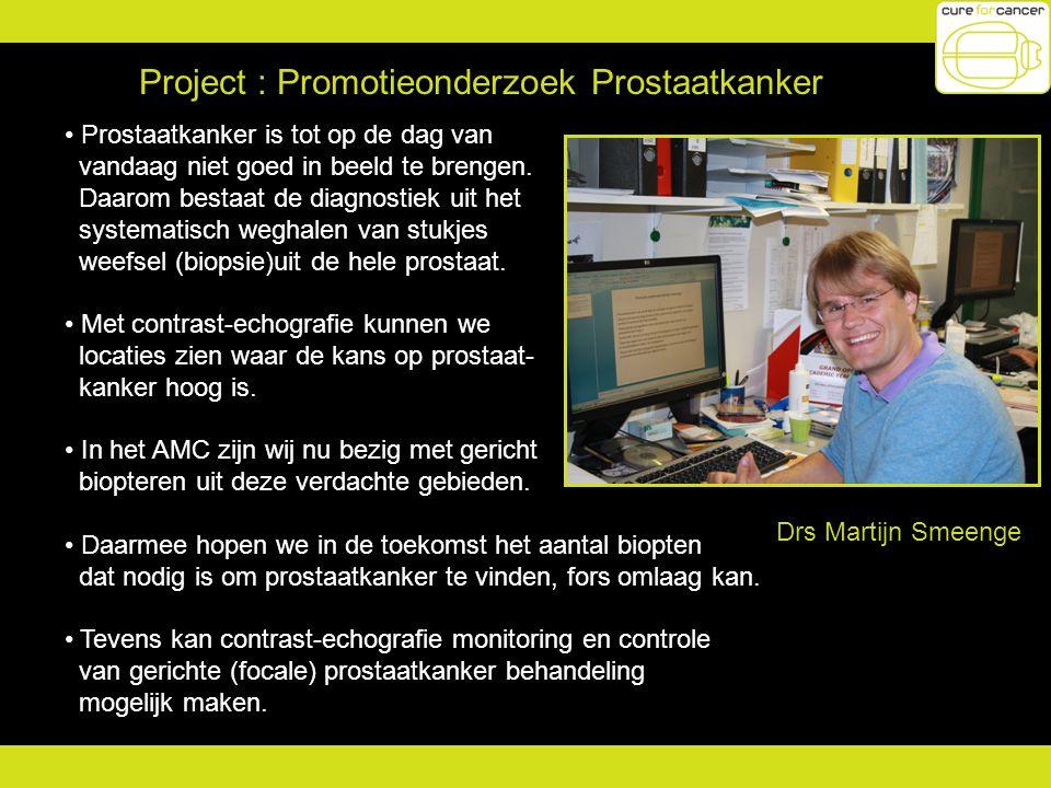 Project : Promotieonderzoek Prostaatkanker