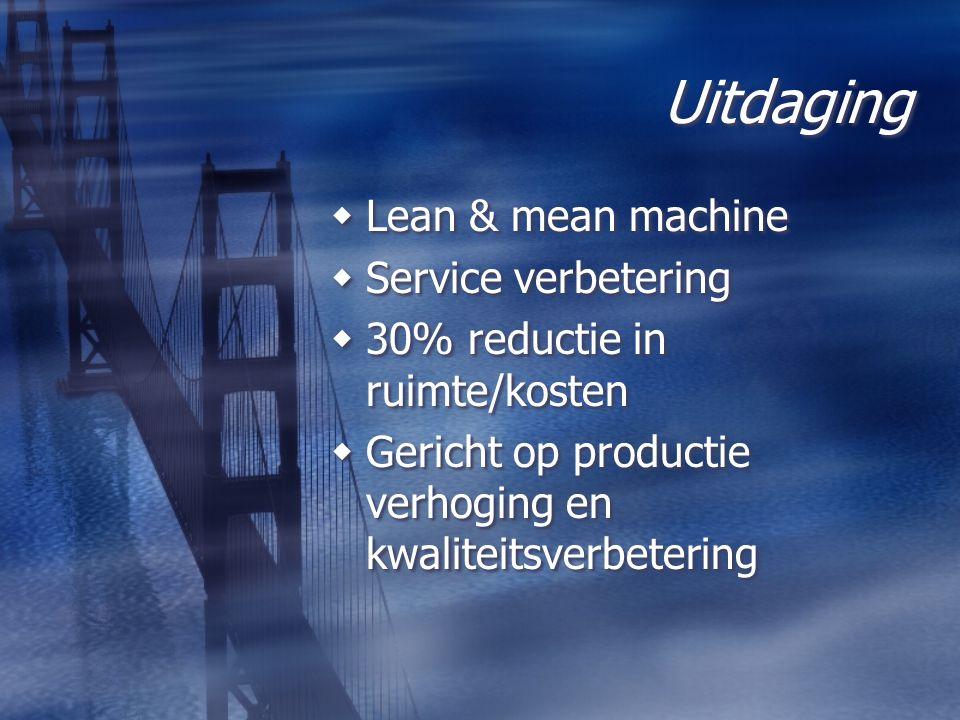 Uitdaging Lean & mean machine Service verbetering