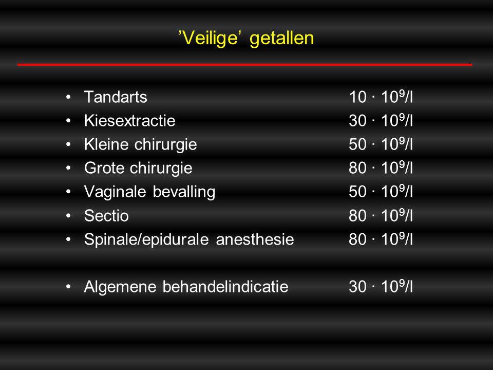 'Veilige' getallen Tandarts Kiesextractie Kleine chirurgie