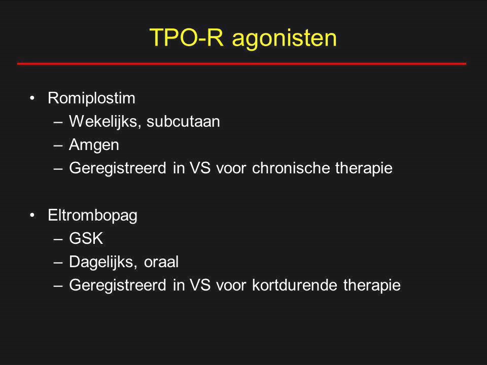 TPO-R agonisten Romiplostim Wekelijks, subcutaan Amgen