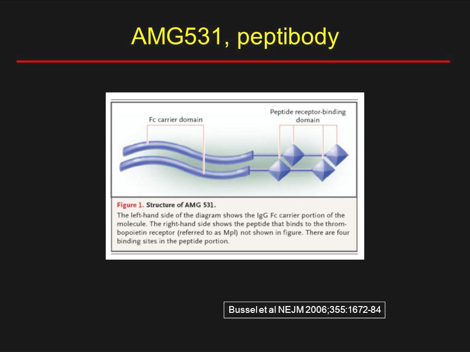 AMG531, peptibody Bussel et al NEJM 2006;355:1672-84