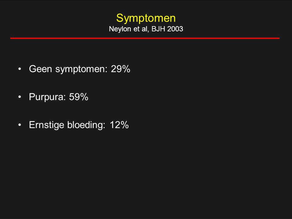 Symptomen Neylon et al, BJH 2003