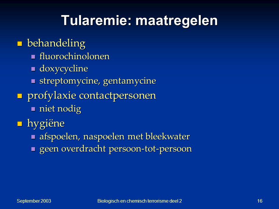 Tularemie: maatregelen