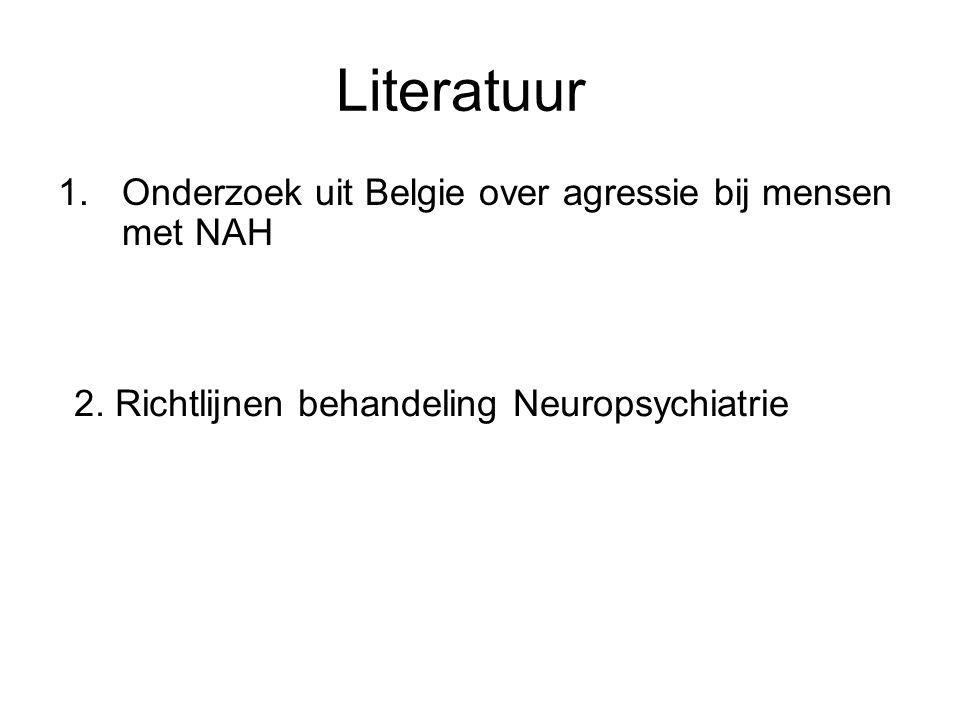 Literatuur Onderzoek uit Belgie over agressie bij mensen met NAH