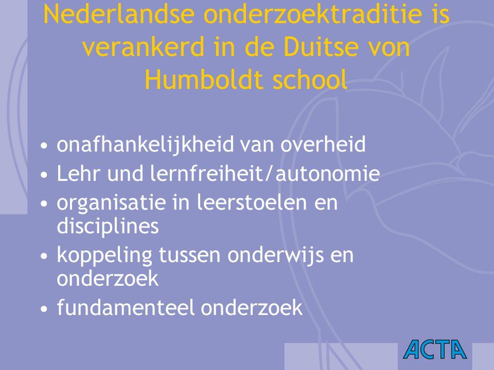 Nederlandse onderzoektraditie is verankerd in de Duitse von Humboldt school