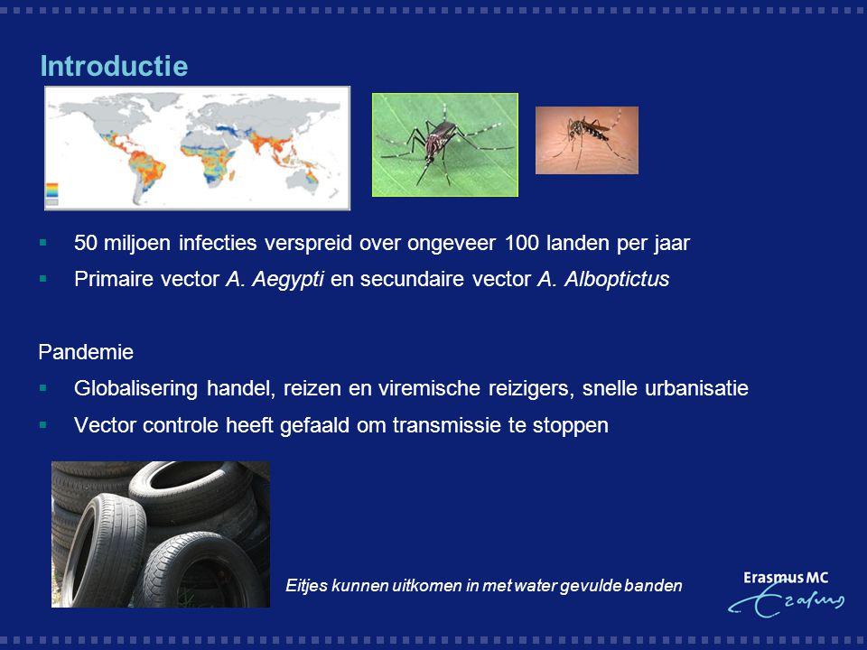 Introductie 50 miljoen infecties verspreid over ongeveer 100 landen per jaar. Primaire vector A. Aegypti en secundaire vector A. Alboptictus.