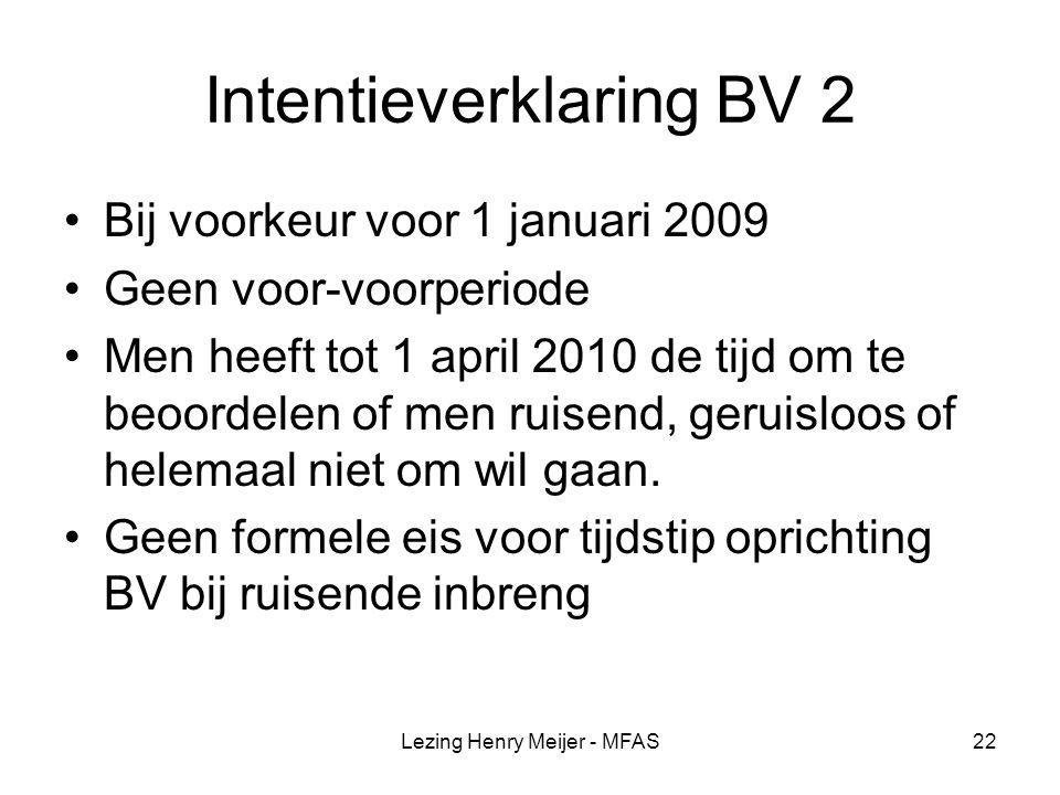 Intentieverklaring BV 2