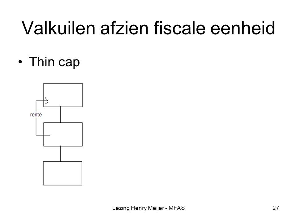 Valkuilen afzien fiscale eenheid