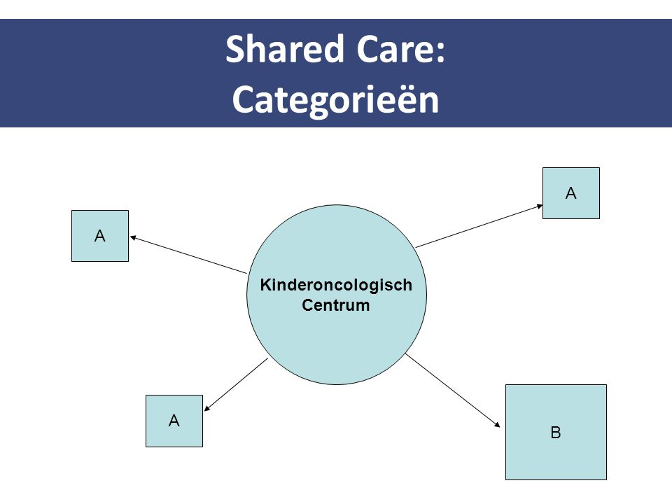 Shared Care: Categorieën