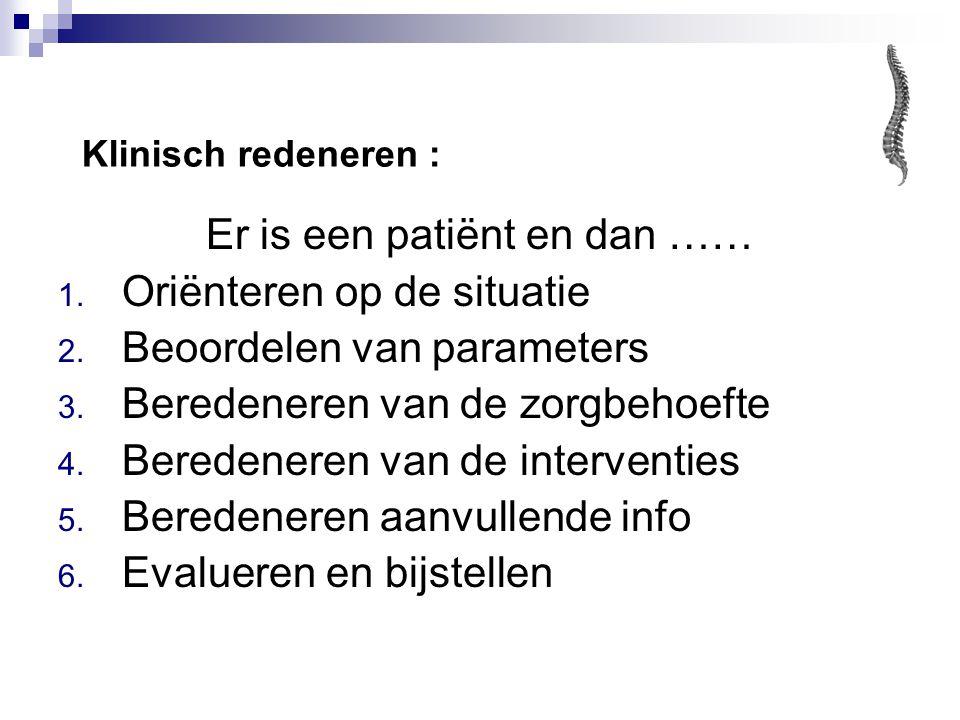 Er is een patiënt en dan ……