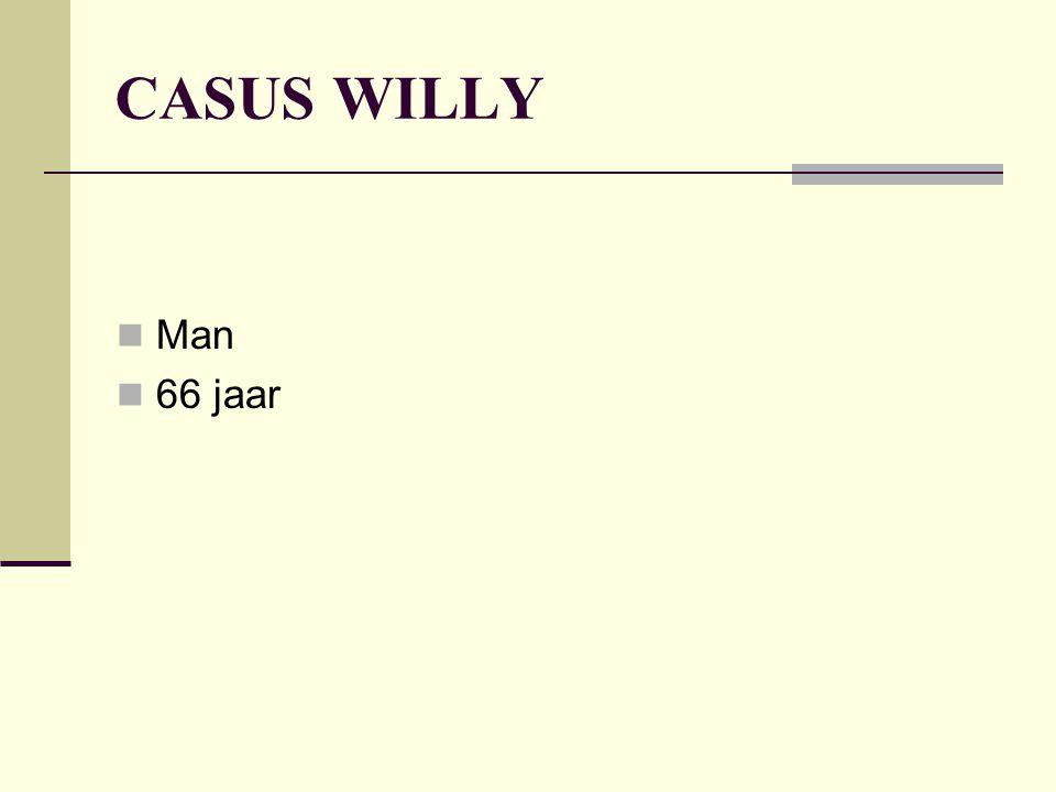 CASUS WILLY Man 66 jaar Huisarts