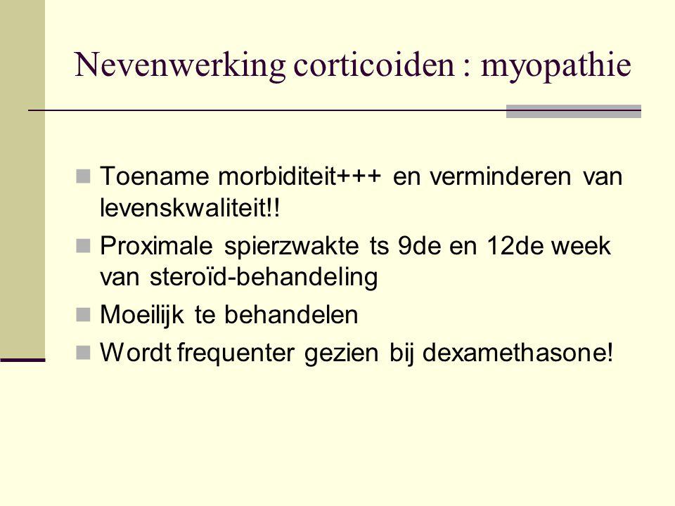 Nevenwerking corticoiden : myopathie