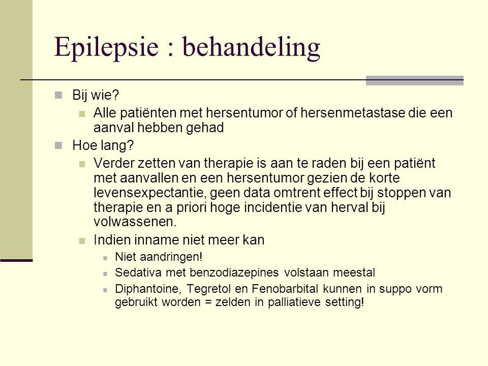 Epilepsie : behandeling