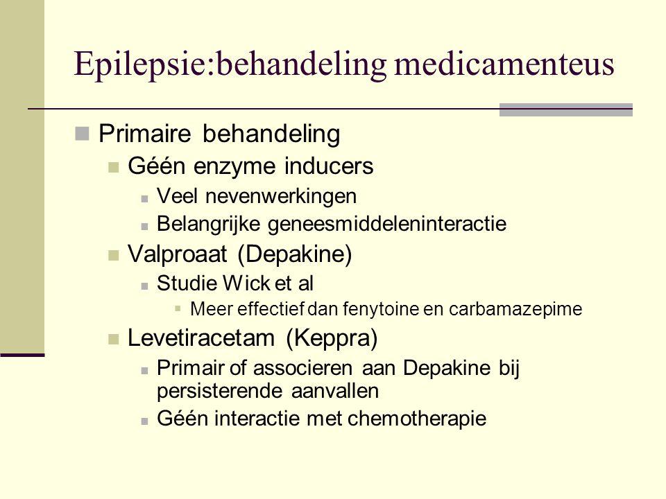Epilepsie:behandeling medicamenteus