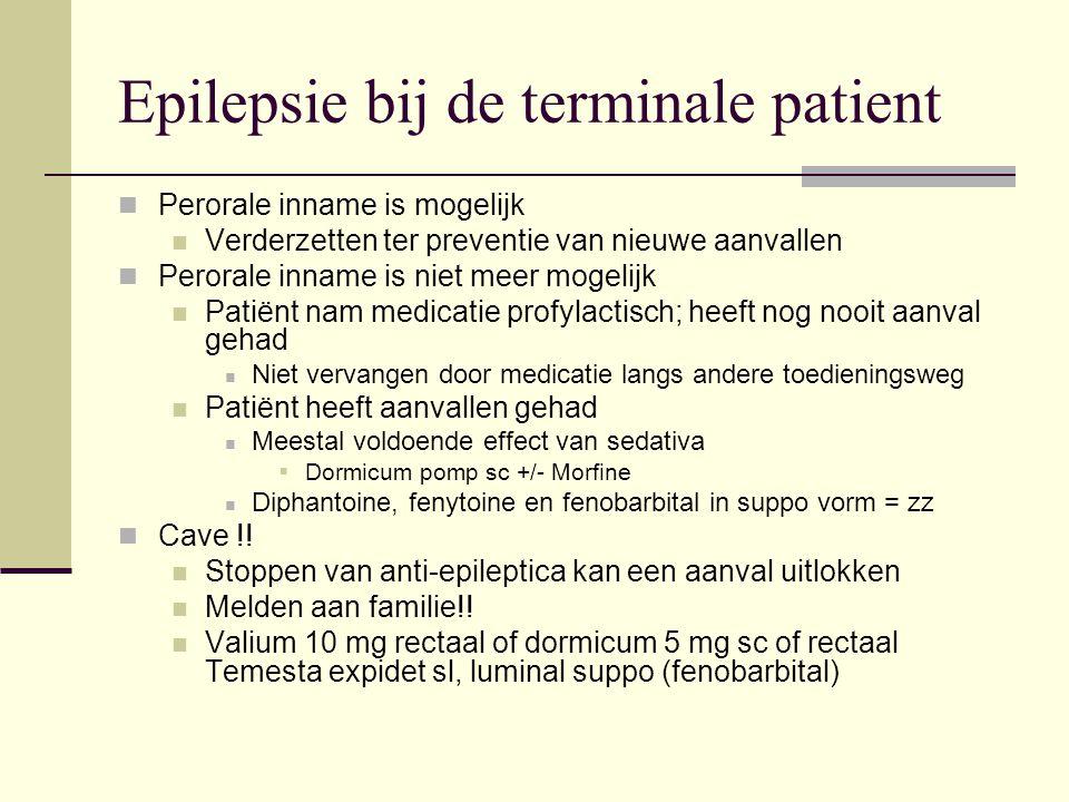 Epilepsie bij de terminale patient