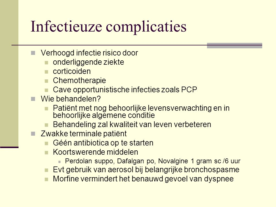 Infectieuze complicaties