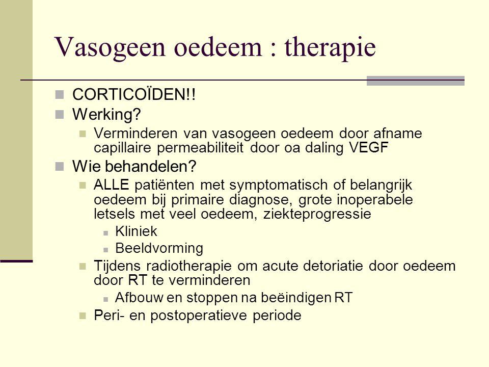 Vasogeen oedeem : therapie
