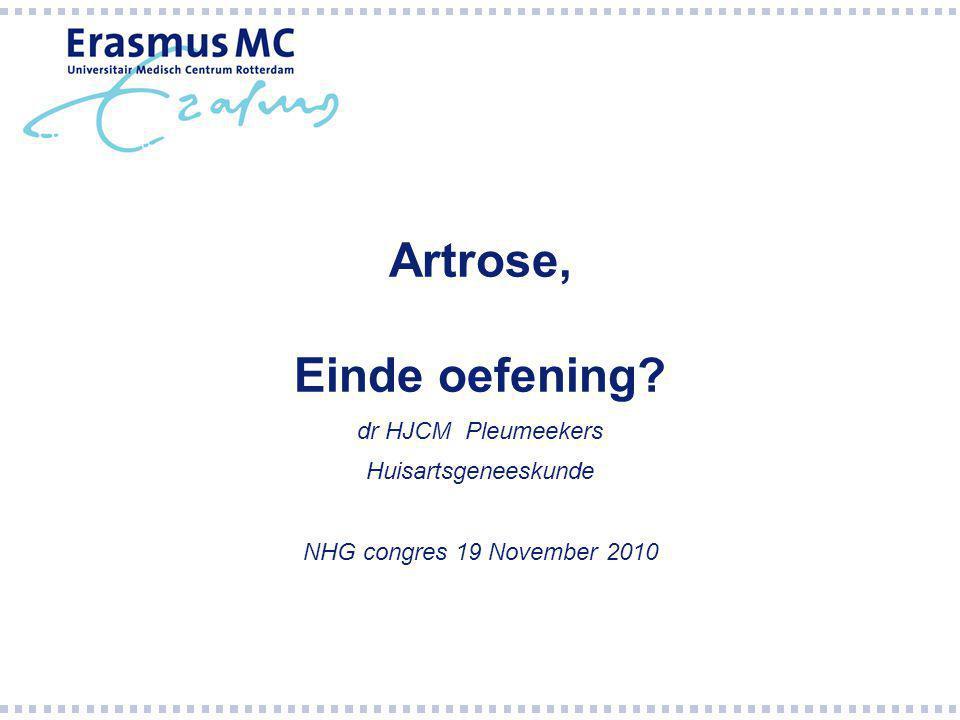Artrose, Einde oefening