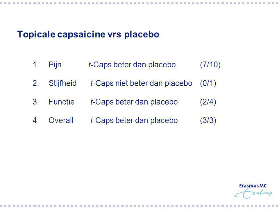Topicale capsaicine vrs placebo