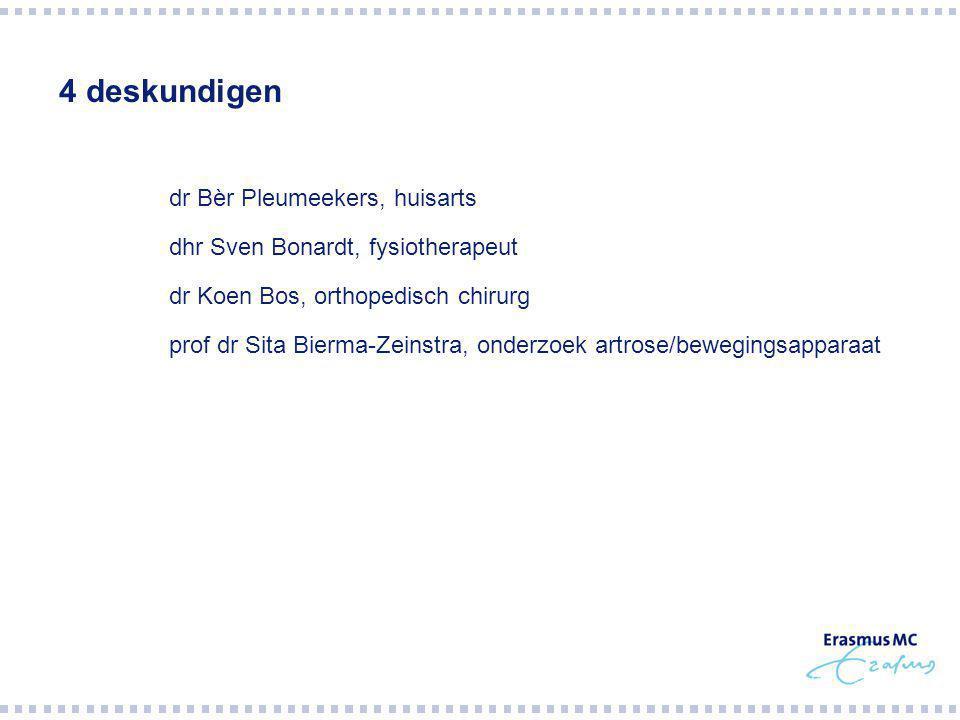 4 deskundigen dr Bèr Pleumeekers, huisarts
