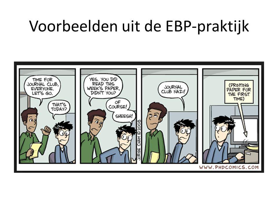 Voorbeelden uit de EBP-praktijk