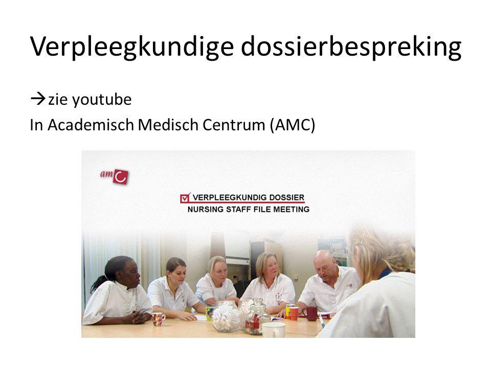 Verpleegkundige dossierbespreking