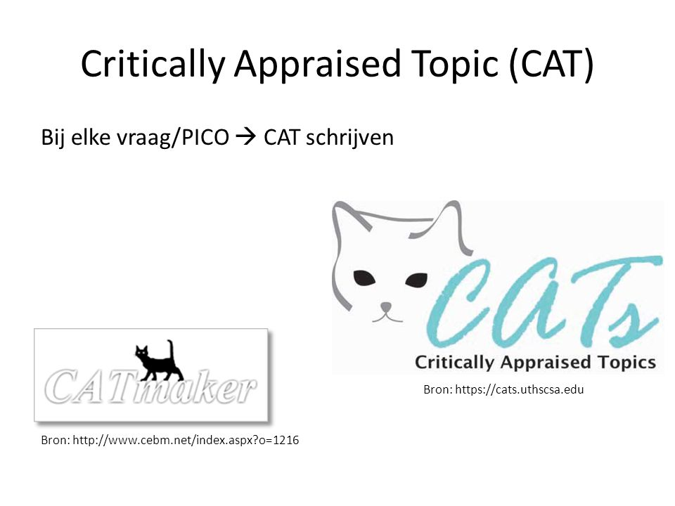 Critically Appraised Topic (CAT)