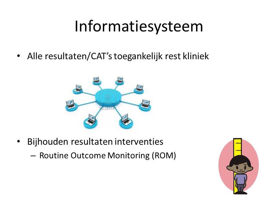 Informatiesysteem Alle resultaten/CAT's toegankelijk rest kliniek