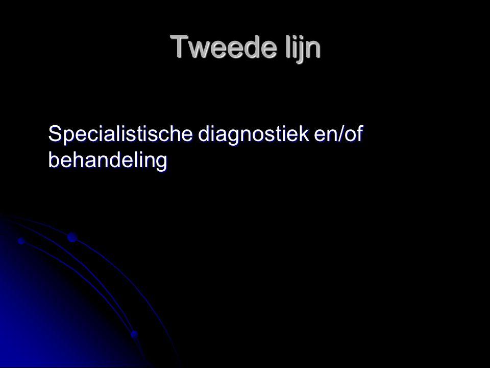 Tweede lijn Specialistische diagnostiek en/of behandeling