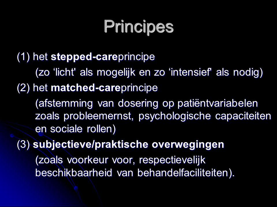 Principes (1) het stepped-careprincipe