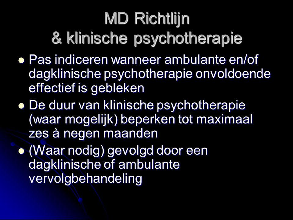 MD Richtlijn & klinische psychotherapie