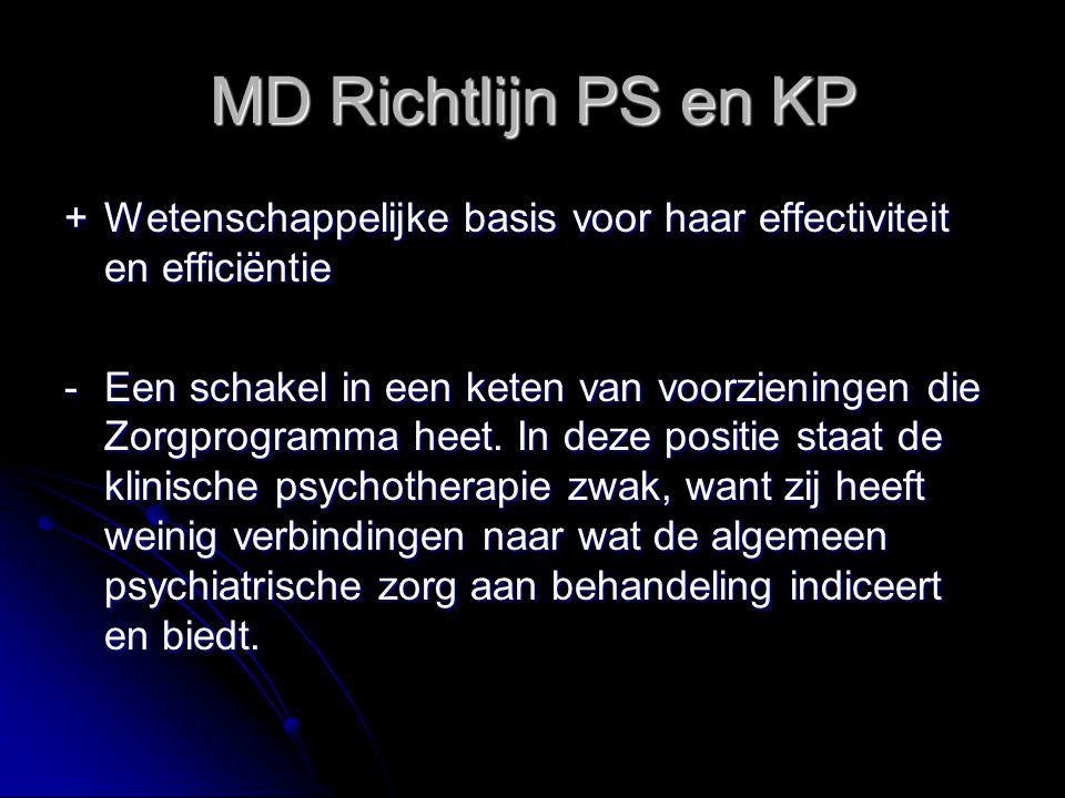 MD Richtlijn PS en KP + Wetenschappelijke basis voor haar effectiviteit en efficiëntie.