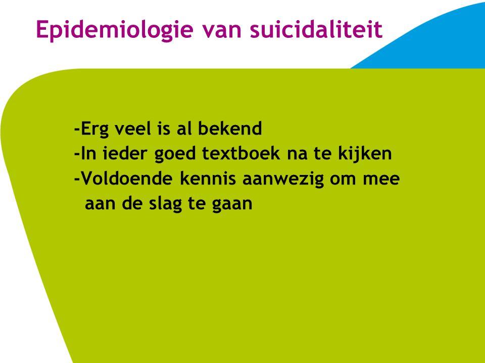 Epidemiologie van suicidaliteit