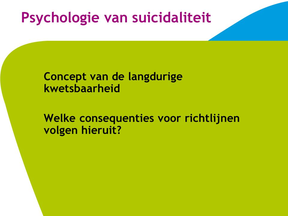 Psychologie van suicidaliteit