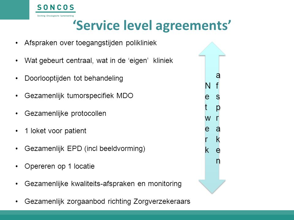 'Service level agreements'
