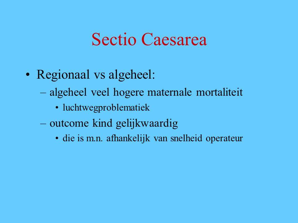 Sectio Caesarea Regionaal vs algeheel: